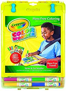 Crayola Color Wonder Mess-Free Coloring, No Mess Markers, Travel Art Desk, Gifts