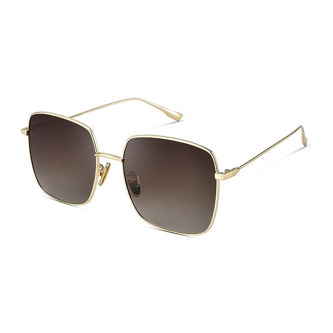 Amazon.com: Mosanana - Gafas de sol cuadradas para mujer con ...