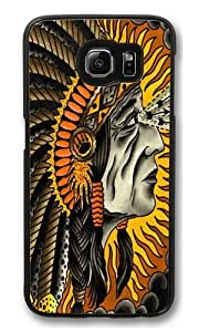 Crazy Horse PC Case Cover for Samsung S6 and Samsung Galaxy S6 Black