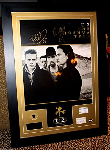 U2 Bono The Edge signed autograph poster FRAMED guitar for sale  Delivered anywhere in USA