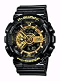 Image of G-Shock Men's Military GA-110 Watch, Black/Gold, One Size