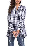 Meaneor Women's Long Sleeve Plaid Flannel Shirt Casual - Best Reviews Guide
