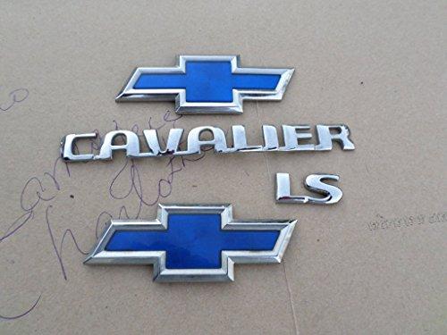 00-02 Chevrolet Cavalier Ls Front Grille Badge Rear Trunk Logo Symbol Emblem Set of 4 Decals