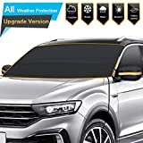 BruRkim Car Windshield Snow Ice Cover for Winter - Sunshade Cover for Summer - Double Side Designed - Waterproof for Ice - Snow - Frost - UV Protection - Large Size Fits for Small Cars - Standar Pickup - SUV