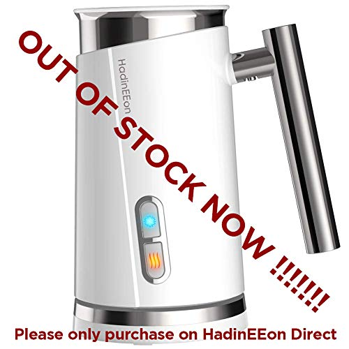 HadinEEon Milk Frother, Electric Milk Frother & Steamer for Making Latte, Cappuccino, Hot Chocolate, Automatic Cold Hot Milk Frother & Warmer (4.4 oz/10.1 oz), Coffee Frother Milk Heater
