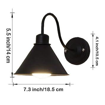 Wof Vintage Lampe Murale Industrielle Fer Balcon Mur Lampe Chambre