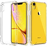 MoKo Compatible with iPhone XR Case, Crystal Clear Reinforced Corners TPU Bumper + Anti-Scratch Hybrid Rugged Transparent Hard Panel Cover Fit with Apple iPhone XR 6.1 inch 2018 - Crystal Clear