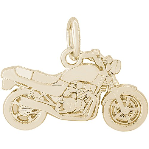 Rembrandt Charms 10K Yellow Gold Motorcycle Charm (12 x 20 (Yellow Gold Motorcycle Charm)