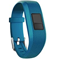 SKYLET Garmin vivofit 3 Silicone Replacement Bands with Secure Watch Clasp (No Tracker) (Royal Blue, Standard (6.0-9.0 in))