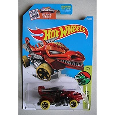 Hot Wheels 2016 Dino Riders Dragon Blaster (Dragon Car) 247/250, Red: Toys & Games