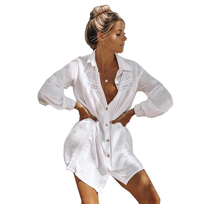 Amazon.com: Mujer Piscina Traje de baño Cover-Up Vestido de ...