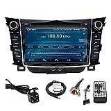 TLTek 7 inch Touch Screen Car GPS Navigation System For Hyundai Elantra GT 2013 2014 2015 2016 DVD Player+Backup Camera+North America Map