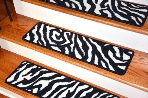 Premium Carpet Stair Treads Zebra