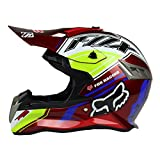 Woljay Dual Sport Off Road Motorcycle helmet Dirt Bike ATV D.O.T certified (L, Red)