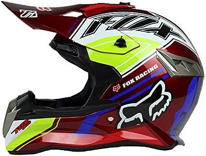 XL, Rouge Woljay Casques motocross Casque sport moto sport double pour VTT Motocross Salet/é Bicyclette Certifi/é DOT