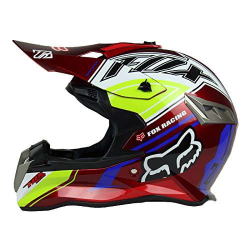 XL, Rouge Woljay Casques motocross Casque sport moto sport double pour VTT Motocross Salet/é Bicyclette Certifi/é DOT