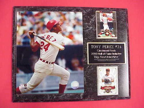 (Reds Tony Perez 2 Card Collector Plaque)
