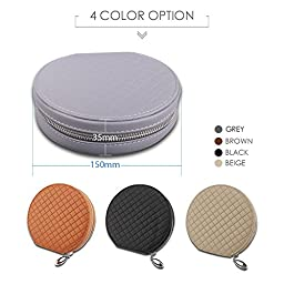 PU Leather 20 Capacity Disc CD VCD DVD Storage Case Bag Wallet Holder for Car, Home, Office ( Case Bag ¨C Grey Color ) by HitCar
