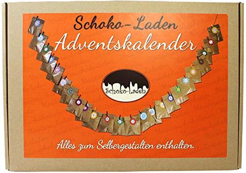 Adventskalender Set Zum Basteln Mit 24 Schokoladenfiguren