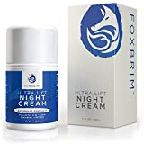 Ultra Lift Night Cream - 100% Advanced Anti-Aging Formula - Restore Youthful Skin With Premium Natural & Organic Ingredients - CoQ10, Panthenol, Peptides, Hyaluronic Acid - Foxbrim 1.7OZ