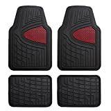 FH Group Heavy Duty Tall Channel F11311BURGUNDY Rubber Floor Mat Burgundy Full Set Trim to Fit
