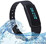 Fitness Tracker - Activity Tracker - Step Counter - Touch Screen - Waterproof - Compatible with Android 4.3+ Phone Tablet - an