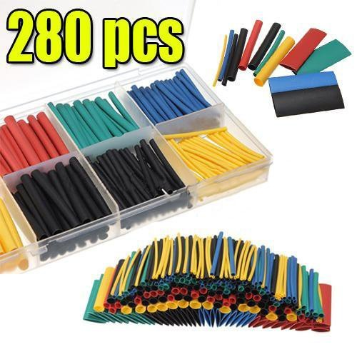 AIMENTE 280pcs Guaine termorestringenti per cavi elettrici con scatola LEXPON.CO. LTD TTAZKAL0706