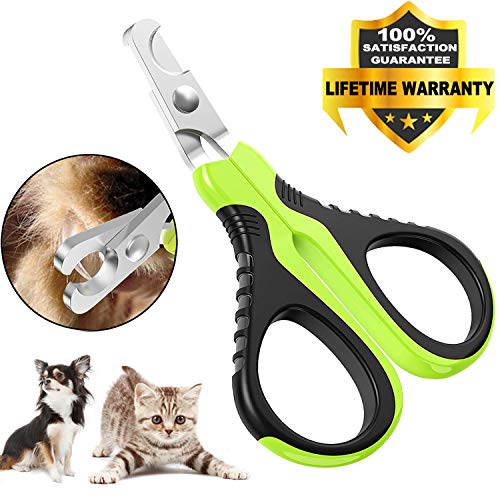 VICTHY Pet Nail Clippers for Small Animals, Dog/Cat Nail Clippers Claw Toenail Trimmer, Professional Home Grooming Tool for Cat/Dog/Kitten/Puppy/Bunny/Rabbit/Bird/Ferret