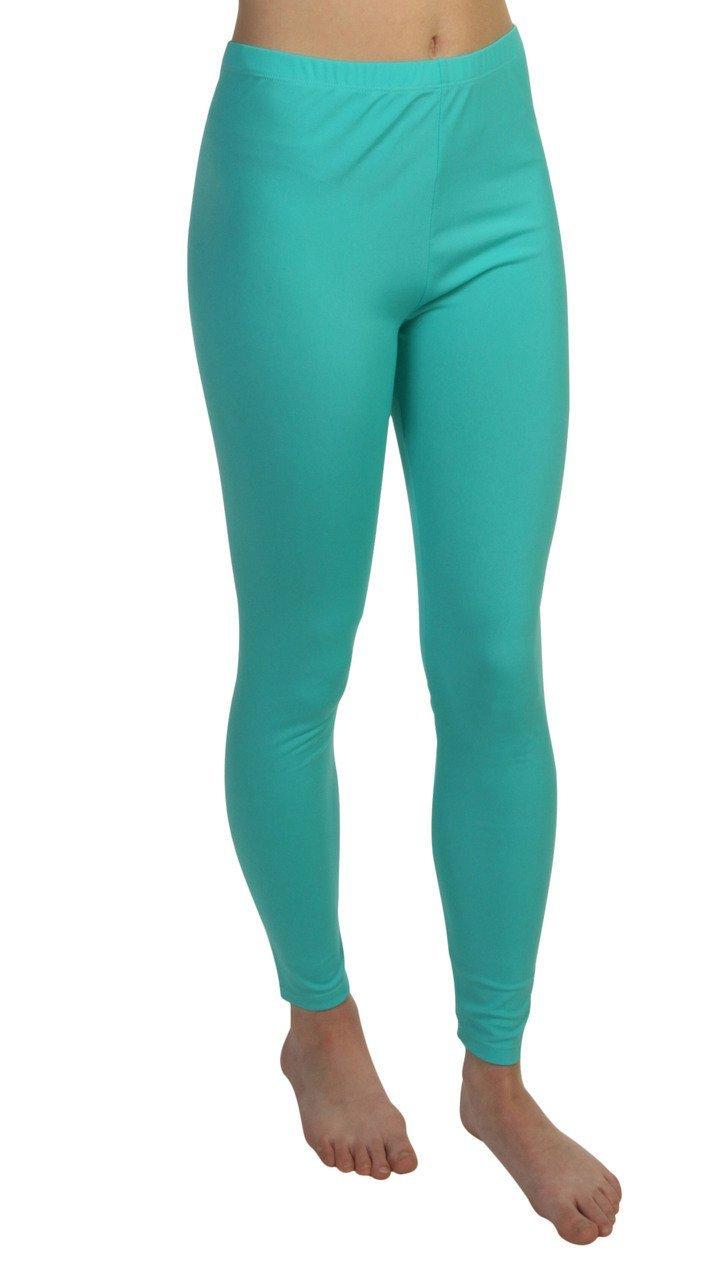 Sun Emporium Turquoise UV Sun Protective Swim Tights for Girls- Swim Pants - Sun Protection Swimming Leggings - sizes 4-14.