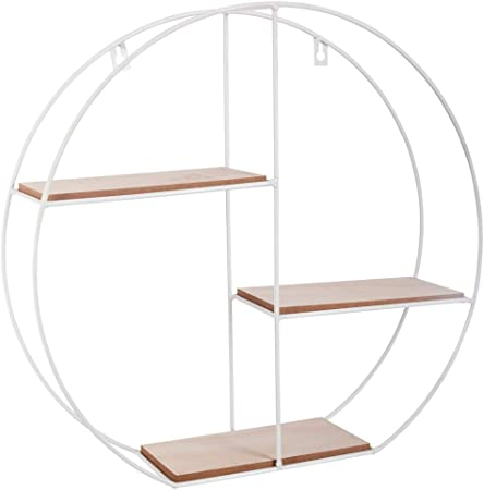 Atmosphera Etagere Murale Ronde Blanche Break Amazon Fr