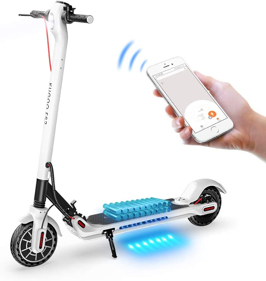 ES2 Folding E-Scooter 350W Motor with APP Control and Built-in USB Port White 7.5Ah Long Range Battery LCD Display Screen Up to 25KM//H GoZheec Electric Scooter 8.5 Inch Tire KUGOO ES2