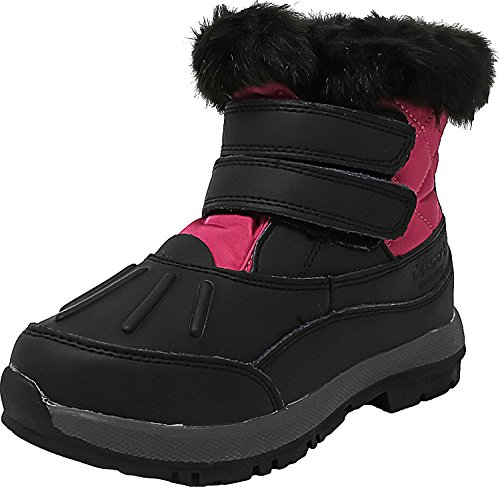 Bearpaw Kids Womens Amanda (Big), Black/Fuschia, 3 Little Kid M