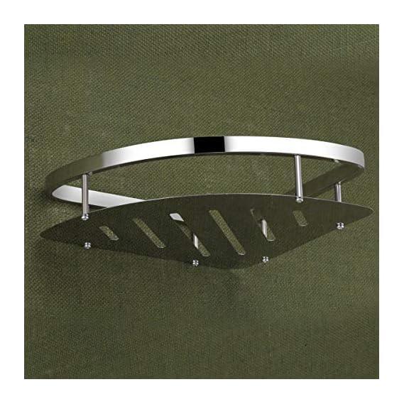U-S-F BATH ACCESSORIES Premium HIgh Grade Stainless Steel Bathroom Shelf/Kitchen Shelf/Bathroom Shelf and Rack/Caddy Basket/Bathroom Accessories (Chrome Plating)
