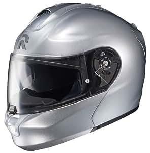HJC RPHA-MAX Align Modular Motorcycle Helmet (Silver, Small)