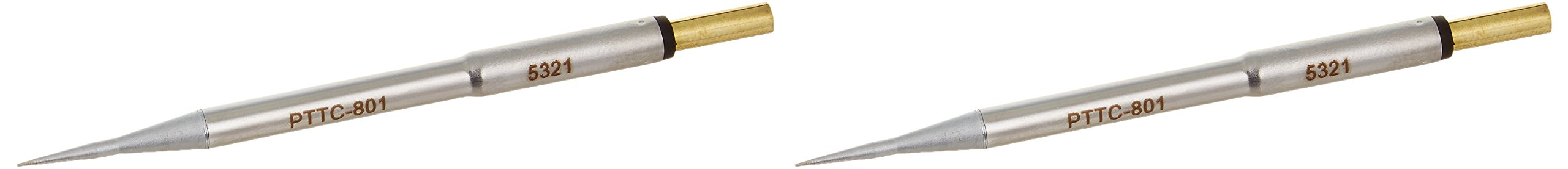 Metcal PTTC-801 PTTC Series Tweezer Cartridge for Ceramic and High Thermal Demand Applications, Conical, 0.4mm Tip Size, 19mm Tip Length