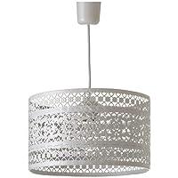Lámpara de techo provenzal blanca de metal