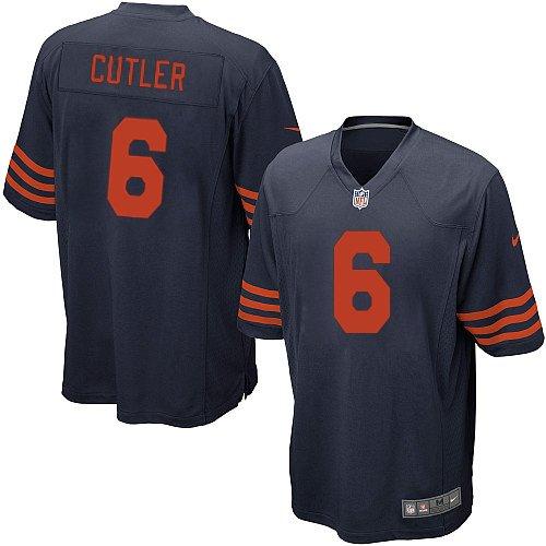 buy popular 29f2a 9218a Amazon.com: Jay Cutler Jersey: Chicago Bears #6 Elite Navy ...