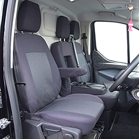 DKMOTO DK541P3 Tailored Van Seat Covers for Ford Transit Custom - with Fold  Down Table