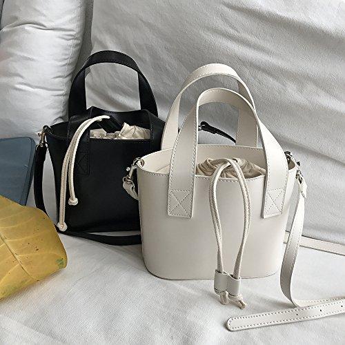 la black Bolso pequeño ZHANGJIA La Bolso Personalidad Black la incorporada de Bolso Hombro de la Mano en Lona Bolso Bolso Moda 4RwRB0zq