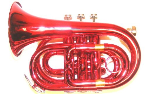 Red Pocket Trumpet by Merano