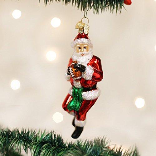 Old World Christmas Quarterback Santa Glass Blown Ornament by Old World Christmas (Image #1)