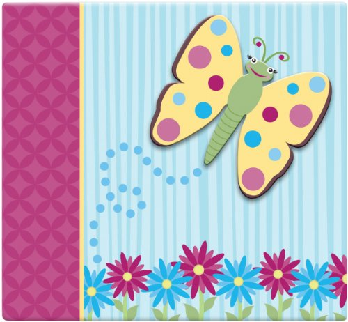 (MCS MBI 13.5x12.5 Inch 3-Raised Character Scrapbook Album with 12x12 Inch Pages, Butterfly)