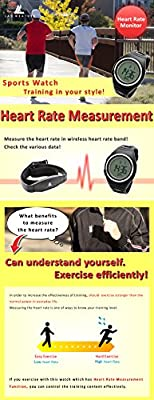 [Lad Weather] Heart Rate Monitor Calorie Exercise / Jogging/ Walking Running Outdoor Men's Wrist Sports Watches