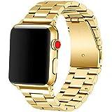 Libra&Gemini Apple Watch Band 38mm Premium Stainless Steel Metal Apple Watch Bands iWatch Bands Apple Watch Band Replacement for Apple Watch Series 1 Series 2 Series 3 Libra & Gemini (Gold)