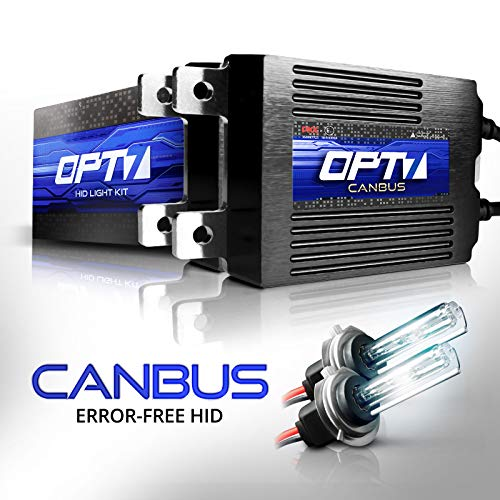 OPT7 Boltzen AC CANbus H7 HID Kit - 5X Brighter - 6X Longer Life - All Bulb Sizes and Colors - 2 Yr Warranty [5000K Bright White Xenon Light]