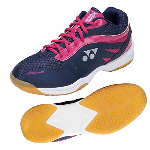 Damen Pink Yonex Cushion Power Dunkelblau Badmintonschuhe 280 qHq0txYg