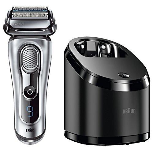 Braun Series 9 9090cc Elektrischer Rasierer mit Reinigungsstation, Rasierapparat Wet und Dry, Elektrorasierer, silber