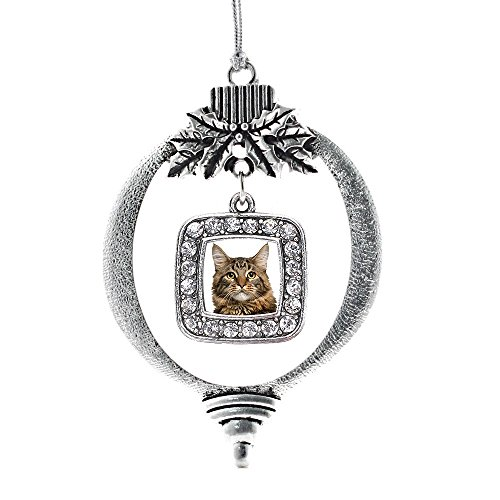 Inspired Silver Maine Coon Cat Classic Holiday Decoration Christmas Tree Ornament