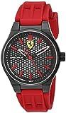 Scuderia Ferrari Men's Stainless Steel Quartz Watch with Silicone Strap, red, 0.55 (Model: 840010)