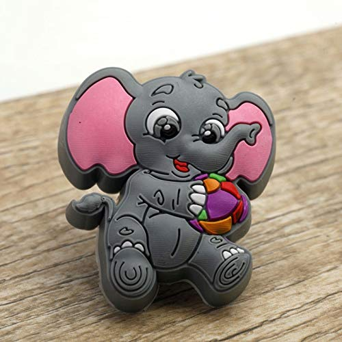 Value-5-Star - Cute Elephant Kids Bedroom Cabinet Drawer Dresser Knob Anticollision Soft Rubber Cupboard Wardrobe Chest Pull Handle